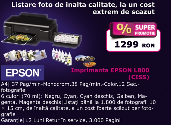 Imprimanta Epson L800 CISS la Artis IT Univers
