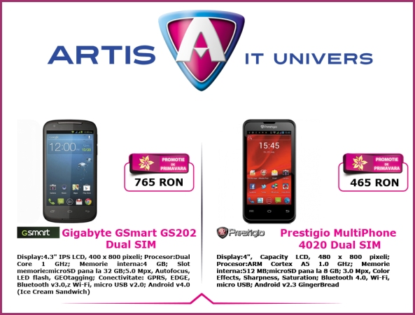 Oferta Smartphone la Artis It Univers copy