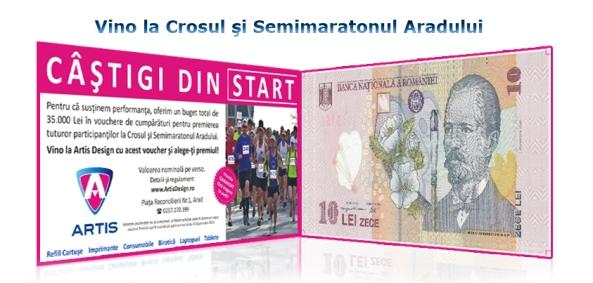 Vino la cross-ul si semimaratonul Arad si poti castiga premii de la Artis